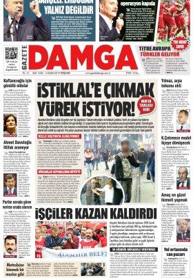 Gazete Damga - 14.11.2019 Sayfaları