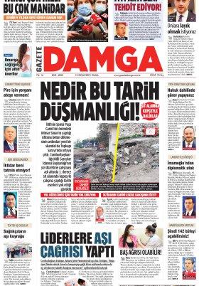 Gazete Damga - 15.01.2021 Sayfaları