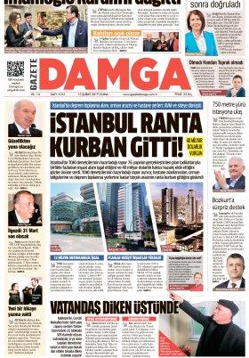 Gazete Damga - 15.02.2019 Sayfaları