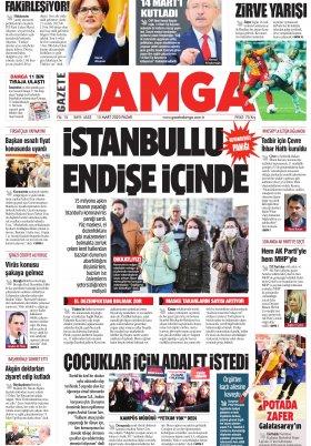 Gazete Damga - 15.03.2020 Sayfaları