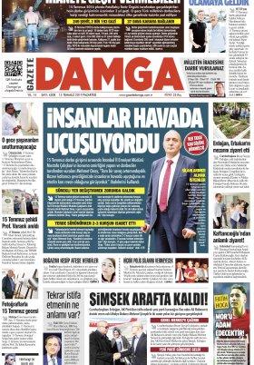 Gazete Damga - 15.07.2019 Sayfaları