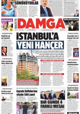 Gazete Damga - 15.09.2020 Sayfaları