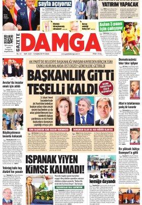Gazete Damga - 15.11.2019 Sayfaları