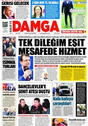 Gazete Damga - 15.12.2018 Sayfaları
