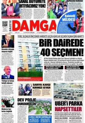 Gazete Damga - 16.01.2019 Sayfaları