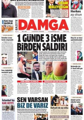 Gazete Damga - 16.01.2021 Sayfaları