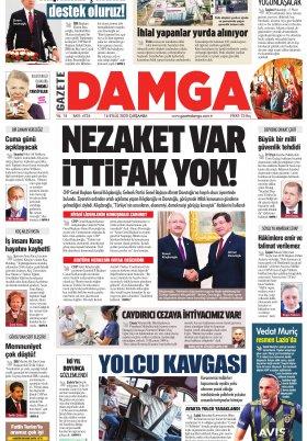 Gazete Damga - 16.09.2020 Sayfaları