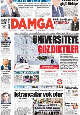 Gazete Damga - 23.06.2018 Manşeti