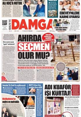 Gazete Damga - 17.01.2019 Sayfaları