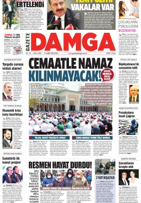 Gazete Damga - 17.03.2020 Sayfaları