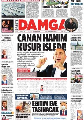 Gazete Damga - 17.09.2020 Sayfaları