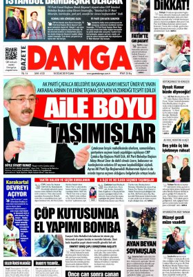Gazete Damga - 18.01.2019 Sayfaları