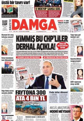 Gazete Damga - 18.01.2020 Sayfaları