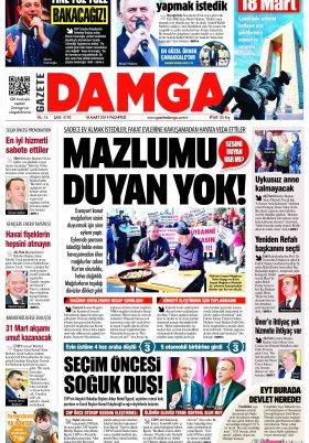 Gazete Damga - 18.03.2019 Sayfaları