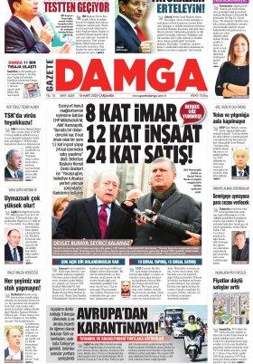 Gazete Damga - 18.03.2020 Sayfaları