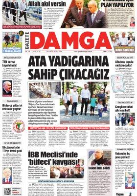 Gazete Damga - 18.09.2020 Sayfaları