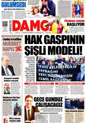 Gazete Damga - 19.01.2019 Sayfaları