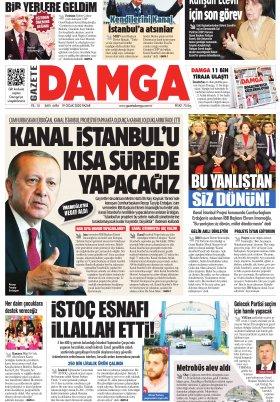 Gazete Damga - 19.01.2020 Sayfaları