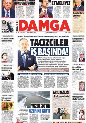 Gazete Damga - 19.01.2021 Sayfaları