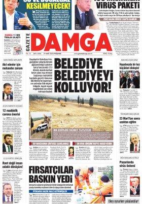 Gazete Damga - 19.03.2020 Sayfaları