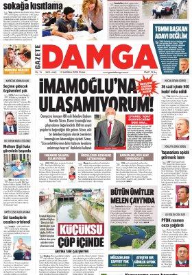 Gazete Damga - 19.06.2020 Sayfaları