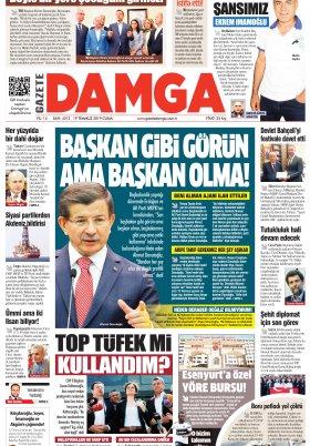 Gazete Damga - 19.07.2019 Sayfaları