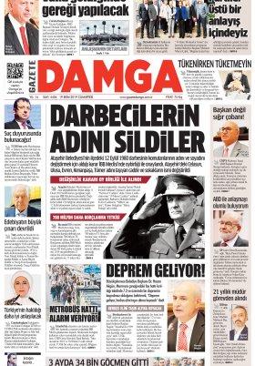 Gazete Damga - 19.10.2019 Sayfaları