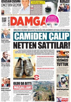 Gazete Damga - 19.07.2018 Manşeti