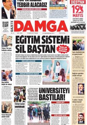 Gazete Damga - 19.05.2019 Sayfaları