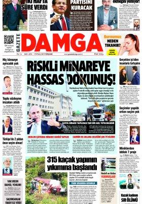 Gazete Damga - 19.09.2019 Sayfaları