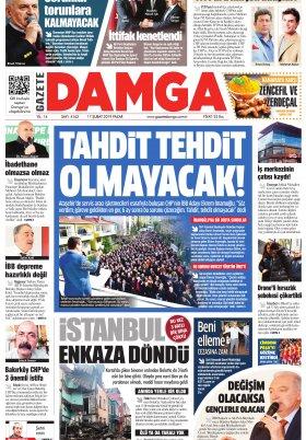 Gazete Damga - 17.02.2019 Sayfaları