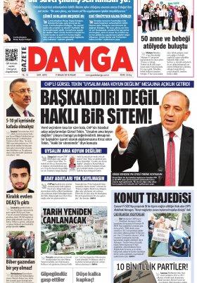 Gazete Damga - 09.12.2018 Sayfaları