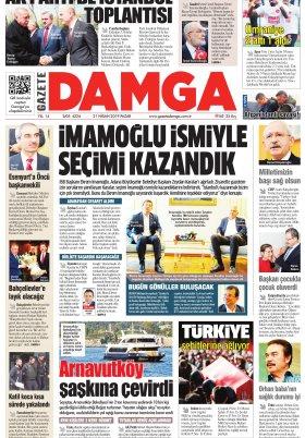 Gazete Damga - 21.04.2019 Sayfaları