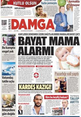 Gazete Damga - 20.08.2018 Manşeti
