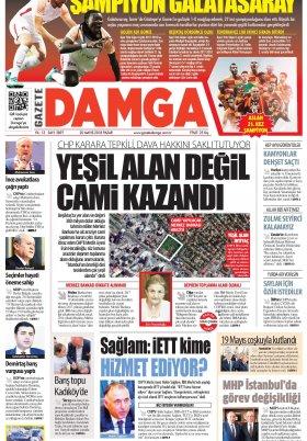 Gazete Damga - 20.05.2018 Manşeti