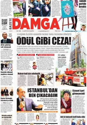 Gazete Damga - 24.03.2018 Manşeti
