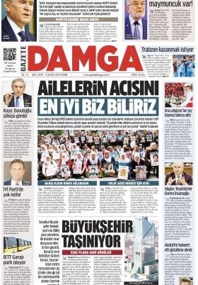 Gazete Damga - 15.09.2019 Sayfaları