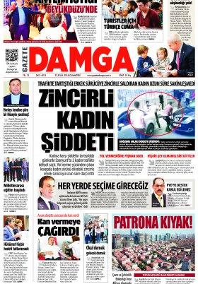 Gazete Damga - 22.09.2018 Manşeti