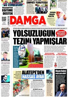 Gazete Damga - 16.10.2018 Sayfaları