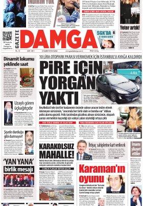 Gazete Damga - 23.02.2018 Manşeti
