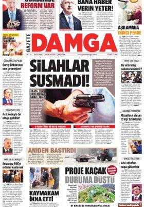 Gazete Damga - 20.01.2021 Sayfaları
