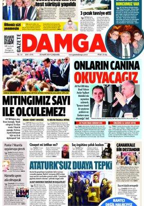 Gazete Damga - 20.03.2019 Sayfaları