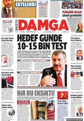 Gazete Damga - 20.03.2020 Sayfaları
