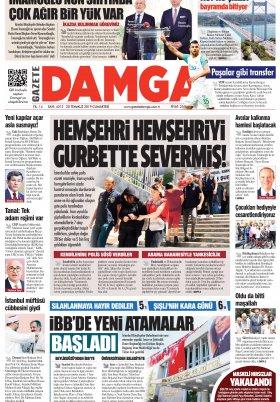 Gazete Damga - 20.07.2019 Sayfaları