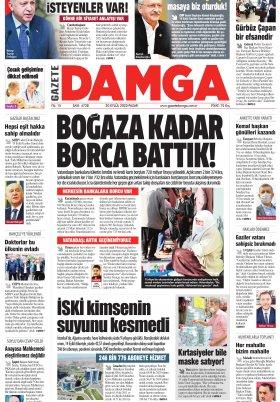 Gazete Damga - 20.09.2020 Sayfaları