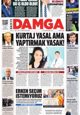 Gazete Damga - 20.10.2019 Sayfaları