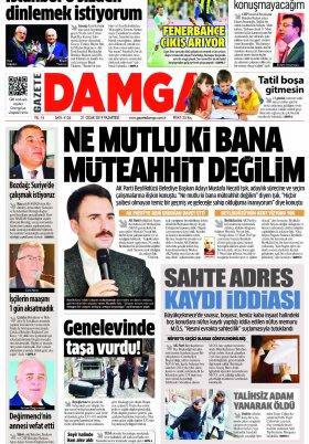 Gazete Damga - 21.01.2019 Sayfaları