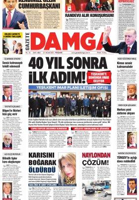 Gazete Damga - 21.01.2021 Sayfaları