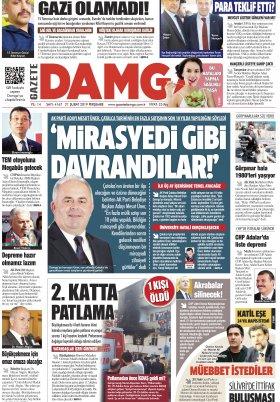 Gazete Damga - 21.02.2019 Sayfaları