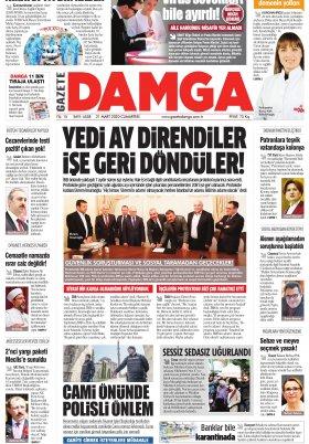 Gazete Damga - 21.03.2020 Sayfaları